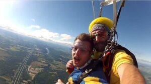 Saut en parachute en tandem Matthieu Bonin