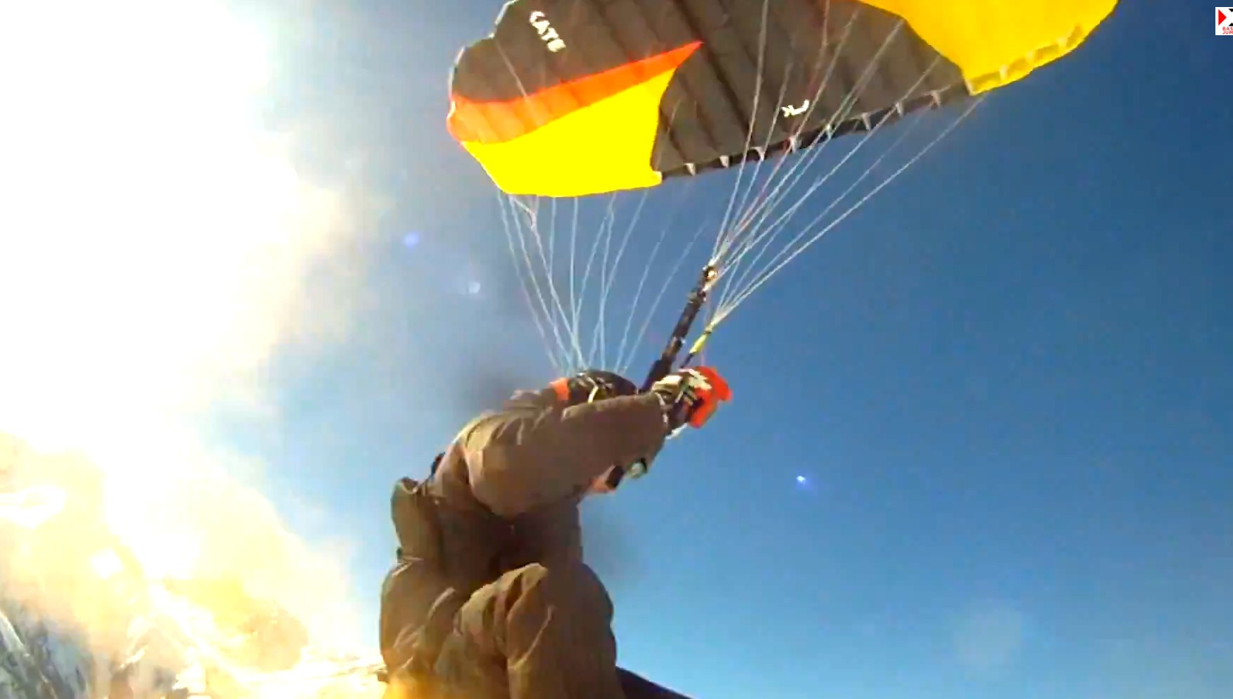 Speed riding sport extrême parachutisme
