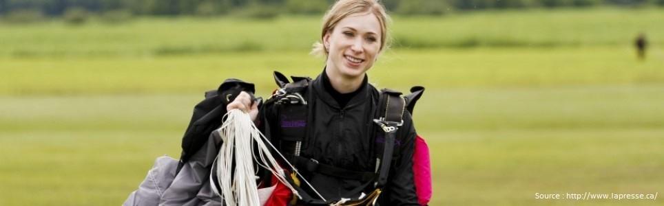 Joannie Rochette, de championne de patinage à parachutiste