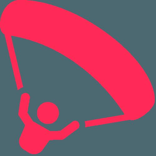 parachute déplié - stage sous voile