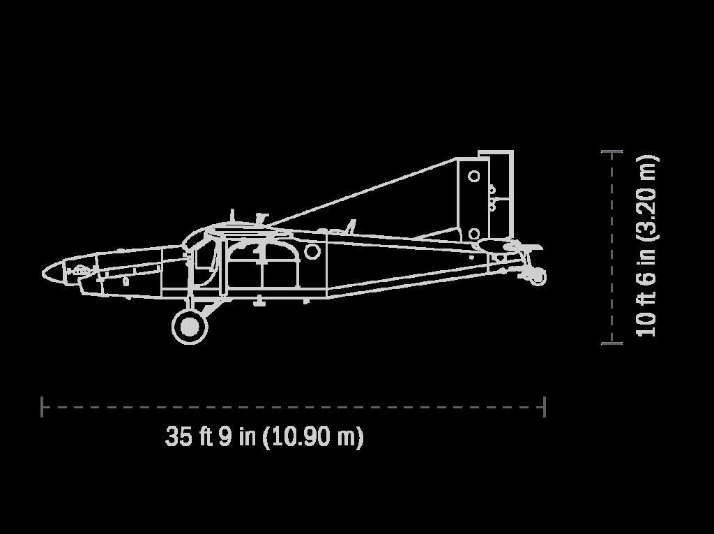 Pilatus Porter PC-6 vue de côté - Brienne Aube Parachutisme centre de parachutisme proche de Paris