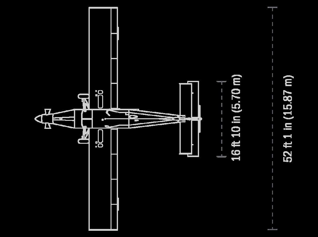 Pilatus Porter PC-6 vue de dessus - Brienne Aube Parachutisme centre de parachutisme proche de Paris