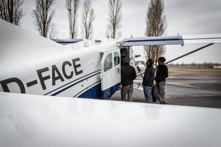 Checkin Pilatus D-FACE Brienne Aube Parachutisme saut en parachute proche de Paris