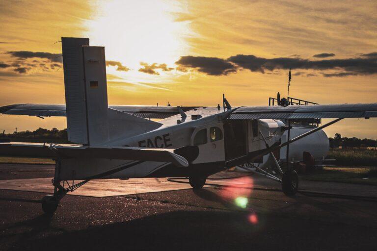 Sunset Pilatus Brienne Aube Parachutisme centre de saut en parachute proche de Troyes